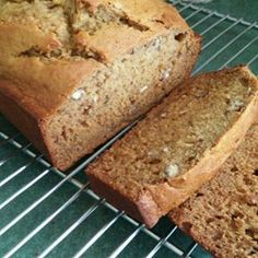 Banana Nut Bread by PAM® is lightly sweetened with honey instead of sugar. #PAMcookingspray #Ad #AllrecipesAllstars