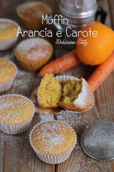 Muffin Arancia e Carota,ricetta - Dolcissima Stefy
