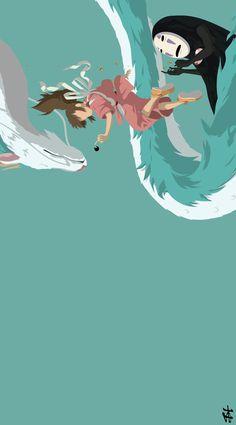 Cute Wallpapers For Ipad, Cute Desktop Wallpaper, Hd Anime Wallpapers, Mood Wallpaper, Cute Anime Wallpaper, Computer Wallpaper, Studio Ghibli Art, Studio Ghibli Movies, Spirited Away Wallpaper