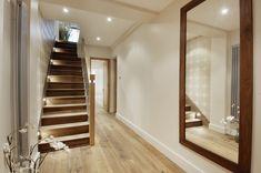 We love a wooden floor. Hallway Mirror, Wooden Flooring, Bespoke, Divider, Stairs, Construction, London, Building, Board
