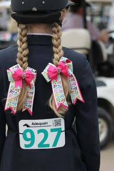 Equestrian hair Bows by BowstotheShows on Etsy, $20.00