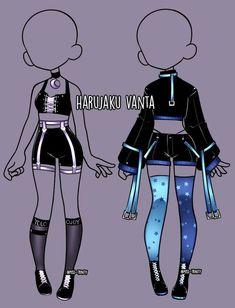 manga clothes Harujaku Vanta clothing adopt [CLOSE] by Miss-Trinity on DeviantArt Drawing Anime Clothes, Manga Clothes, Dress Drawing, Drawings Of Clothes, How To Draw Clothes, Outfit Drawings, Fashion Design Drawings, Fashion Sketches, Anime Outfits