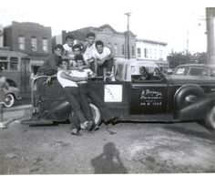 Corona Dukes greaser gang. Brooklyn 1950s. Greasers were a youth subculture that originated in the 50s among American street gangs.