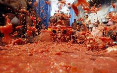 La Tomatina - the most famous tomato fight in Spain
