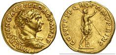 AV Aureus. Roman Coin, Roman Empire, Traianus 98-117 AD. 107 AD. 7,33g. RIC 253, 136. VF. Price realized 2011: 5.500 USD.