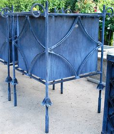 The Charisse Box - classic orangery-style planter box is made of steel and named after Cyd Charisse (from Deborah Silver's store)