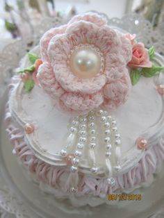 Shabby Chic*Crochet flower*Msgardengrove1