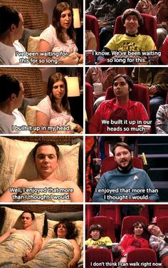 """We've been waiting so long for this"" - Brilliant Star Wars/Shammy's night parallels #TheBigBangTheory"