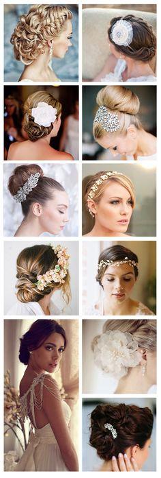 cabelos de noiva presos