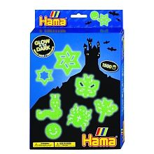 Glow in the Dark Gift Set 3414 - Hama Beads - on special offer for July 2016 only! Fuse Beads, Hama Beads, Multimedia, Jewelry Crafts, The Darkest, Lego, Glow, Gadgets, Kids Rugs