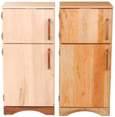 A Simple Fridge - Cherry or Curly Maple Wood Play Refridgerator - Made in the USA - Non-toxic Eco-friendly toys from Palumba, a division of Camden Rose: Palumba