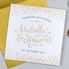Glitter And Sparkle Wedding Invitation