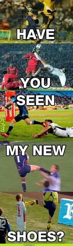 Sports humor, funny jokes, hilarious, funny soccer quotes, funny football m Funny Soccer Memes, Funny Jokes, Hilarious, Funniest Memes, Rugby Memes, Funny Sports Quotes, Funny Football Quotes, Soccer Girl Quotes, 9gag Funny
