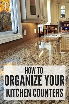 Trying to organize your home but not sure where to start? This is a simple, easy to follow list of how to organize your kitchen counters.