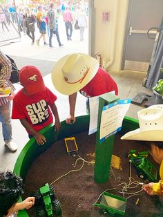 Still on the fence about taking the kids to the Stampede? Here are some things on the grounds that will keep them entertained. No rides or games required! Travel With Kids, Family Travel, Freestyle Motocross, Free Buttons, Kids Zone, Thomas The Train, Wagon Wheel, Monster Energy, Business For Kids
