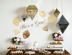 She's a Gem! Baby Shower Sweets Table