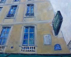 "Daily+Paintworks+-+""Voltaire""+-+Original+Fine+Art+for+Sale+-+©+Judith+Elder"