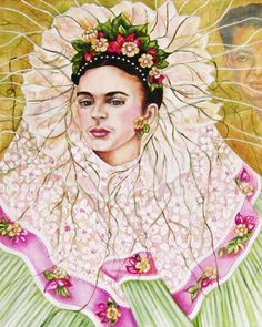 Frida Kahlo Print Mexican Print Frida by kMadisonMooreFineArt