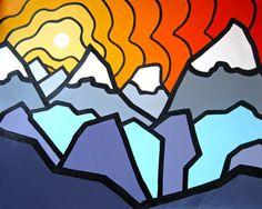 The Ridge Glacier National Park 8 x 10 Fine Art door leannespanza, Canvas Art Prints, Fine Art Prints, Original Artwork, Original Paintings, Art For Sale Online, Art Online, Warm And Cool Colors, 6th Grade Art, Cool Art Projects