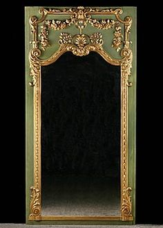 Beautiful 19th Century French Antique Giltwood Trumeau