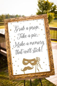 PRINTABLE  Grab a Prop Sign Wedding Photo Booth by nelladesigns