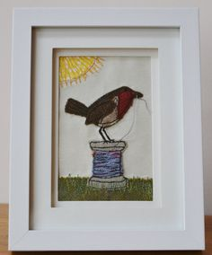 Tweed Robin on a Cotton Reel