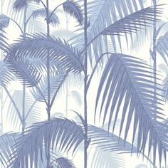 Cole & Son PALM JUNGLE BLUES/ WHITE Wallpaper *order sample from walnut
