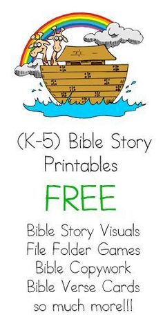 Bible Story Printables is a website dedicated to providing you with fun, free colorful printable activities you can use in your Christian Homeschool or Sunday School Classroom!