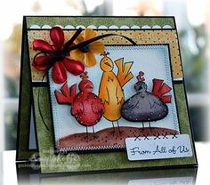 Chicken Trio by PickleTree - Cards and Paper Crafts at Splitcoaststampers