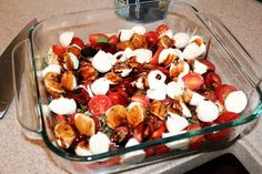 looks YUM  Baked Caprese Chicken with Balsamic Glaze