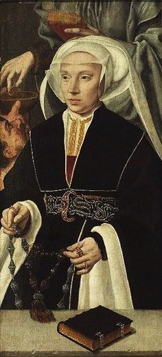 1542 Bartholomäus Bruyn the Elder (c 1493-1555) Detail of Woman with Rosary It's About Time