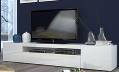 Porta TV Daiquiri made in Italy disponibile in 3 colori a € Stairs Architecture, Tv Bracket, Blue Color Schemes, Modern Tv, Mounted Tv, Daiquiri, Tv Cabinets, Staircase Design, Tv Unit