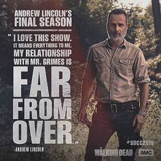 Andrew Lincoln may be leaving, but the legacy of Rick Grimes will always carry on. We will all miss you Andy ❤️ Walking Dead Cake, Walking Dead Tv Show, Walking Dead Zombies, Walking Dead Season, Fear The Walking Dead, Rick Grimes, Judith Grimes, Andrew Lincoln, Daryl Dixon