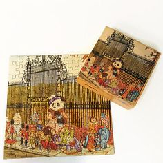 Michael Hague's Teddy Bears Pam Alphabears Puzzle 100 pieces 1984 Toys on Parade Panda Toy Soldier Monkey Elephant by ThriftyTheresa