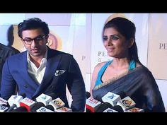 Ranbir Kapoor & Sonali Kulkarni at Bright Awards Awards 2017, Ranbir Kapoor, Interview, Bright, Coat, Music, Youtube, Pictures, Fictional Characters