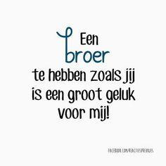 Een broer te hebben zoals jij is een groot geluk voor mij #liefde #familie…