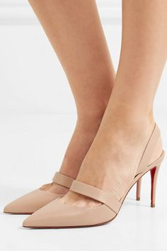Heel measures approximately inches Beige leather Elasticated slingback strap Made in Italy Nude Shoes, Women's Shoes Sandals, Pumps Heels, Stiletto Heels, Shoe Boots, High Heels, Stilettos, Pretty Shoes, Beautiful Shoes