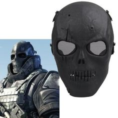 Airsoft Mask Skull Full Protective Mask | Novelty Force
