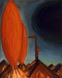 El Kazovszkij: Szirén éneke / Siren's Vocal - 2005 - 100x80 cm - olaj, vászon / oil on canvas Painters, Art History, Gallery, Artist, Amen, Artists