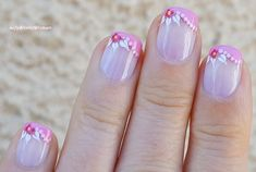 #Babypink #Frenchmanicure with #flower #nailart Pink French Manicure, French Manicure Designs, French Nail Art, Nail Art Designs, Flower Nail Art, Easy Nail Art, Nail Tutorials, Nail Manicure, Simple Nails