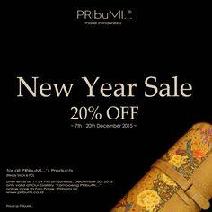 """PRibuMI...® New Year Sale"" Please contact via:  WA : 082213355211 LINE : pribumi_id PIN BB : 5ABCD17C Email : order@pribumi.co.id www.pribumi.co.id"