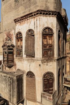 Pre Partition building inside Mori Gate- Historic Walled city of Lahore, Pakistan.