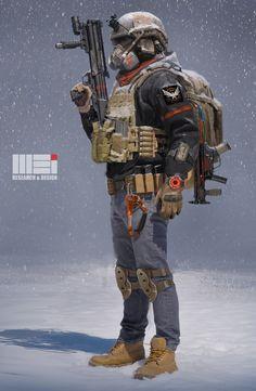 ArtStation - Division fanart --- Darkzone Tactical Agent, weihao wei