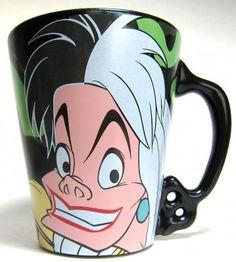 Disney Villains Cruella De Vil   ... Come True > Mugs & Cups > Cruella de Vil Disney Villains coffee mug