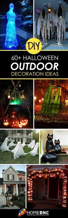 Easy DIY Halloween Decorations Halloweeners Pinterest DIY - diy outdoor halloween props