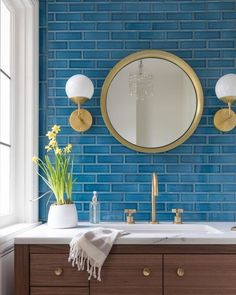 8 Must Have Fireclay Tile Colors For Midwest Modern Interior Design Bathroom Photos, Bathroom Wallpaper, Small Bathroom, Master Bathroom, Bathroom Ideas, Bathroom Remodeling, Bathroom Organization, Blue Bathrooms, Bathroom Storage