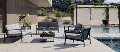 Matthew Hilton's Eos Sofa combines a contemporary outdoor aesthetic with a lightweight, weather-proof structure. Buy garden furniture from Case. Outdoor Garden Furniture, Outdoor Decor, Three Seater Sofa, Sofa Frame, High Quality Furniture, Furniture Collection, Contemporary Furniture, Outdoor Spaces, Eos