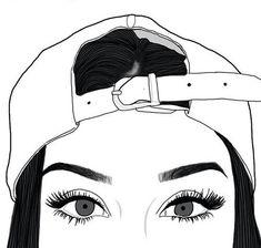 dessins de fille tumblr  | , beauté, noir et blanc, couple, dessin, sourcils, cils, yeux, fille ...
