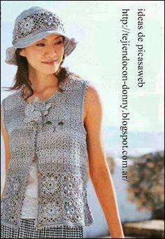 Ambrosia Plus Size Dress in Black Crochet Fabric, Crochet Gifts, Knit Crochet, Crochet Patterns, Crochet Tops, Crochet Waistcoat, Crochet Cardigan, Vest Outfits, Crochet Woman