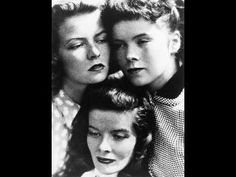 """""""The Hippest Shusher"""" would be Margaret """"Peg"""" Perry, Katherine Hepburn's youngest sister. Click through for a lovely tribute to her. -- Shown: """"Katharine, Peg (left), and Marion (right) Hepburn"""""""